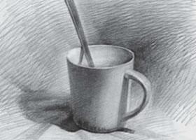 咖啡杯素描画法
