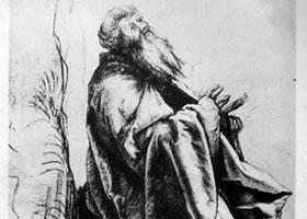 格伦奈华特《安特缪斯像》素描作品