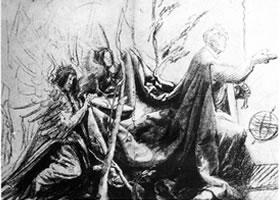 格伦奈华特《戴王冠的基督》素描作品
