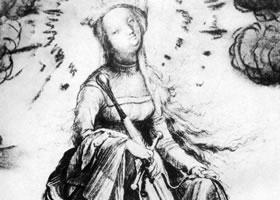 格伦奈华特《卡特琳娜》素描作品