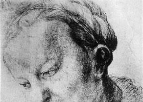 格伦奈华特《年轻妇人》素描作品