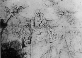 格伦奈华特《密塞利克尔蒂阿的圣母》素描作品