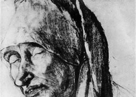 格伦奈华特《玛尔格雷特•普鲁比茨》素描作品