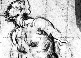 丁托雷托《爱娃的习作》素描作品