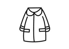 大衣简笔画法