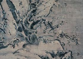 林良《雪景芦雁图》轴