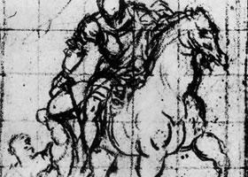 丁托雷托《圣马尔蒂努斯和乞食者》素描作品