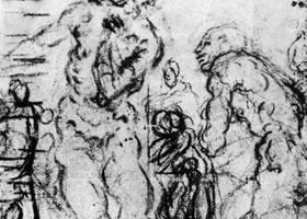 丁托雷托《浪子回家》素描作品