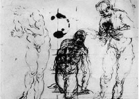 丁托雷托《为弟子沐足的基督》素描作品