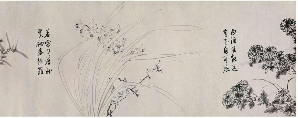 陈淳《花卉图》卷古画高清大图(二)