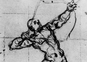 丁托雷托《射手的习作》素描作品