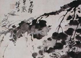 徐渭《墨葡萄图》轴