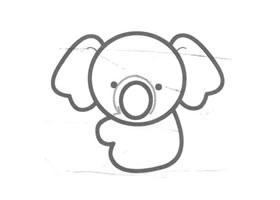 考拉儿童画法