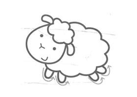 绵羊儿童画法