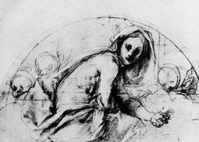 蓬托莫《圣撤利亚》素描作品
