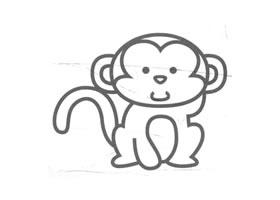 猴子儿童画法(三)