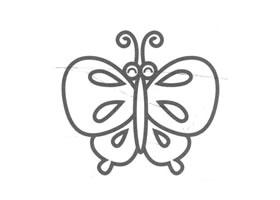 蝴蝶儿童画法(二)