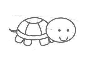 乌龟儿童画法
