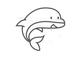 海豚儿童画法(二)