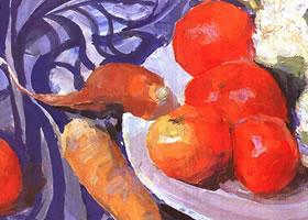 番茄的水粉画法