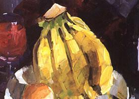 香蕉的水粉画法(一)