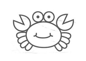 螃蟹儿童画法