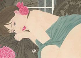 李嘉儒工笔人物画《幽浮香》