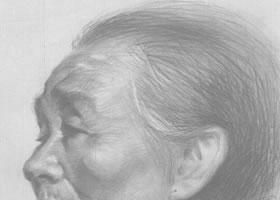 素描老太太绘画步骤
