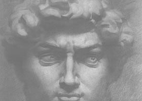 《大卫石膏像》素描作品