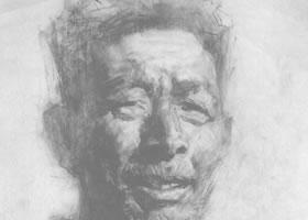 戎国辉《石塘渔夫》素描作品