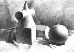 几何形体素描写生步骤
