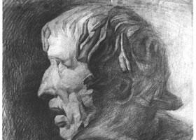 石膏像素描写生步骤(一)