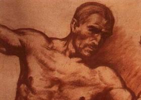 《三人体》素描