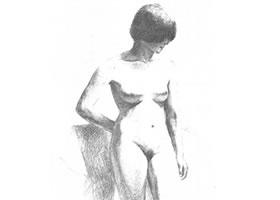 素描画画教程-人体素描