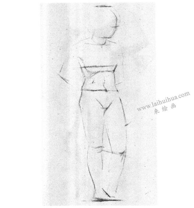 人体素描写生技法步骤01