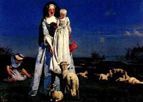 英国人物画《可爱的羔羊》