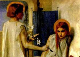 英国人物画《受胎告知》