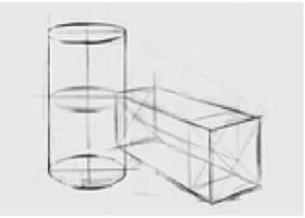 两个几何形体组合(一)