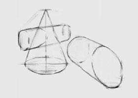 两个几何形体组合(三)