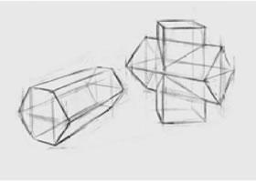 两个几何形体组合(五)