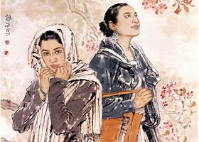 中国画《春风带着海棠吹来》创作步骤