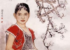 中国画《初春》的创作步骤