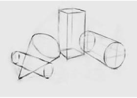 三个几何形体组合(二)