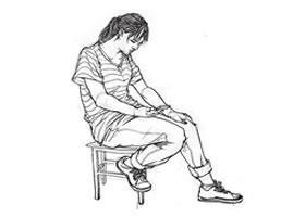 坐姿人物速写写生步骤