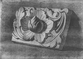 石膏浮雕写生步骤