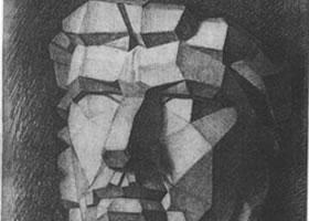 素描绘画教程-亚历山大石膏像