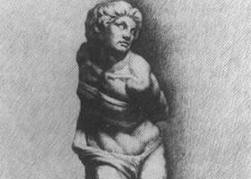 素描被缚的奴隶石膏人体写生步骤
