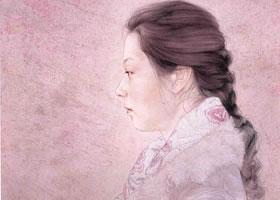 罗寒蕾工笔人物画《单眼皮•夏夏》创作步骤