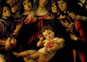 西方人物画《石榴圣母》