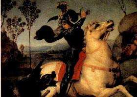 拉斐尔《圣乔治与龙》作品